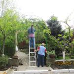 Покраска центрального входа в зеленую зону (Субботник 12 апреля 2014 г.)