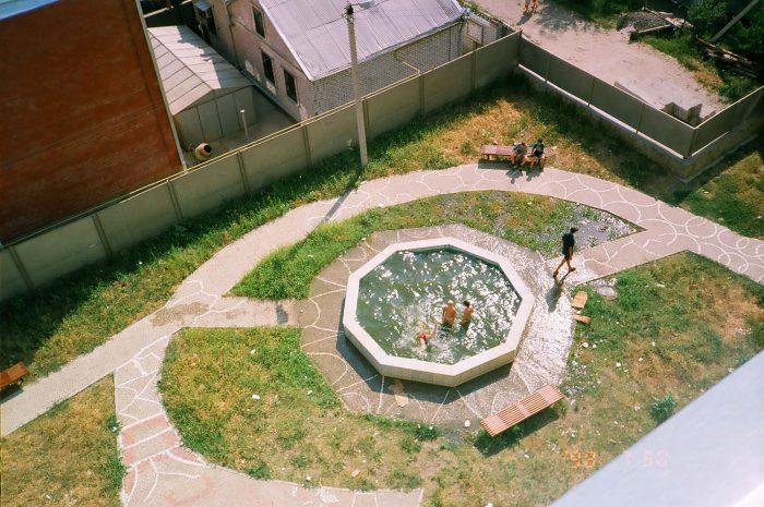 Историческое фото фонтана-бассейна