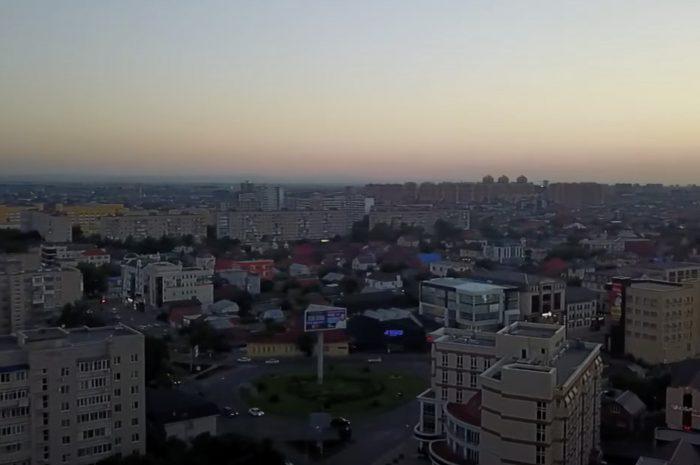 Вечерний Краснодар — над Одесской